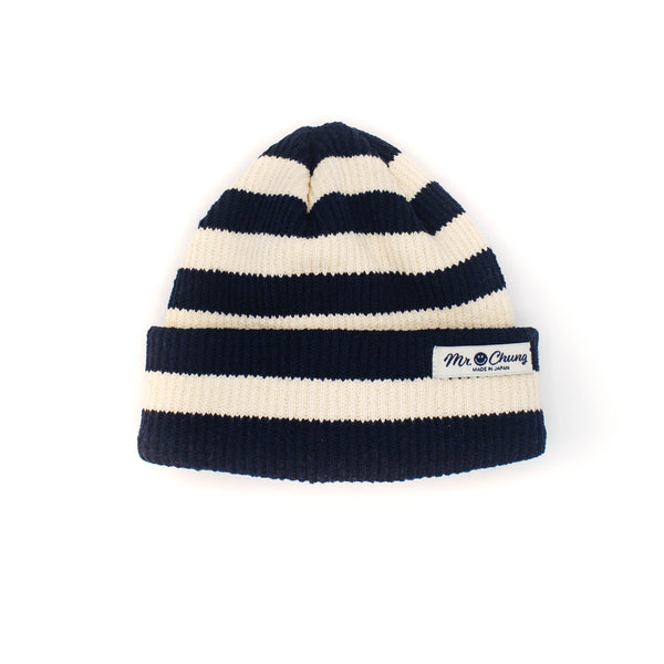 Mr. Chung Beanie - Navy Ivory Stripe - November 19 Market