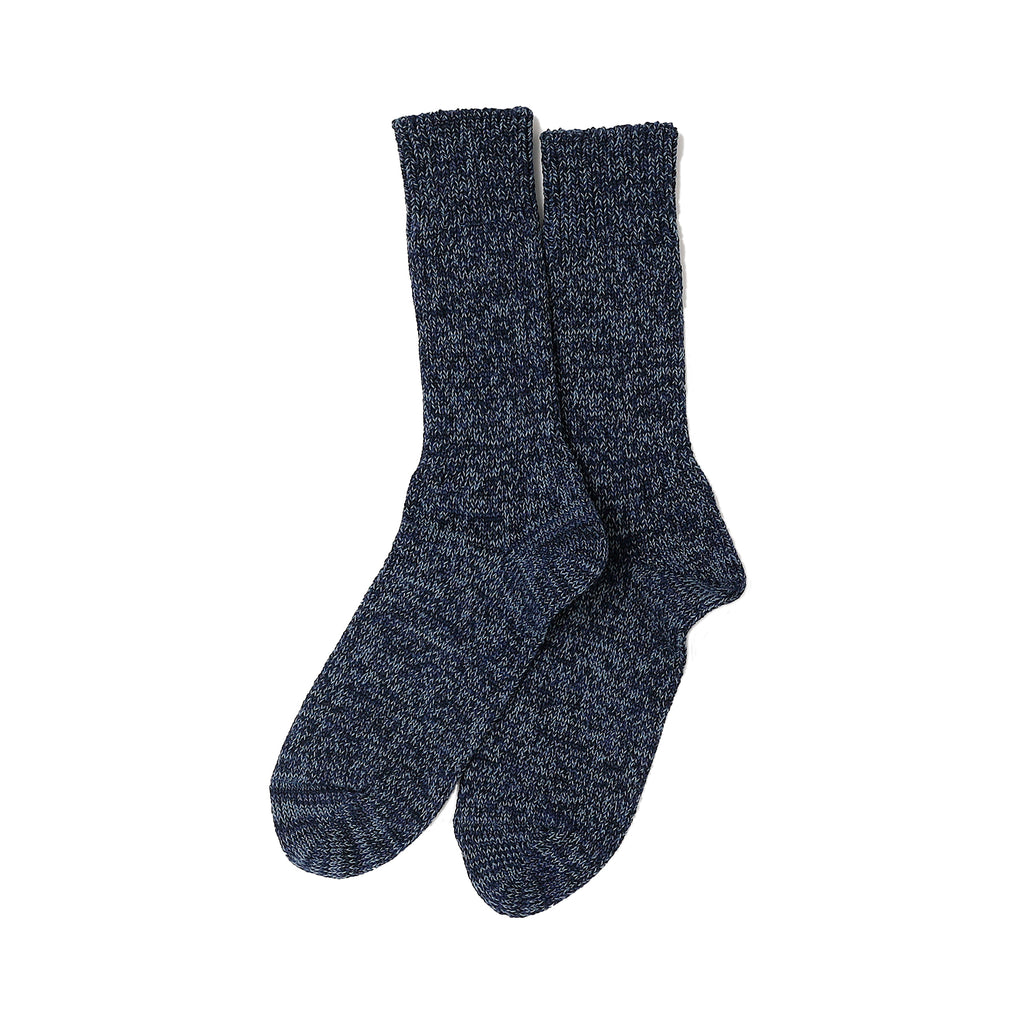 RoToTo - Denim Tone Crew Socks - Blue Denim - November 19 Market