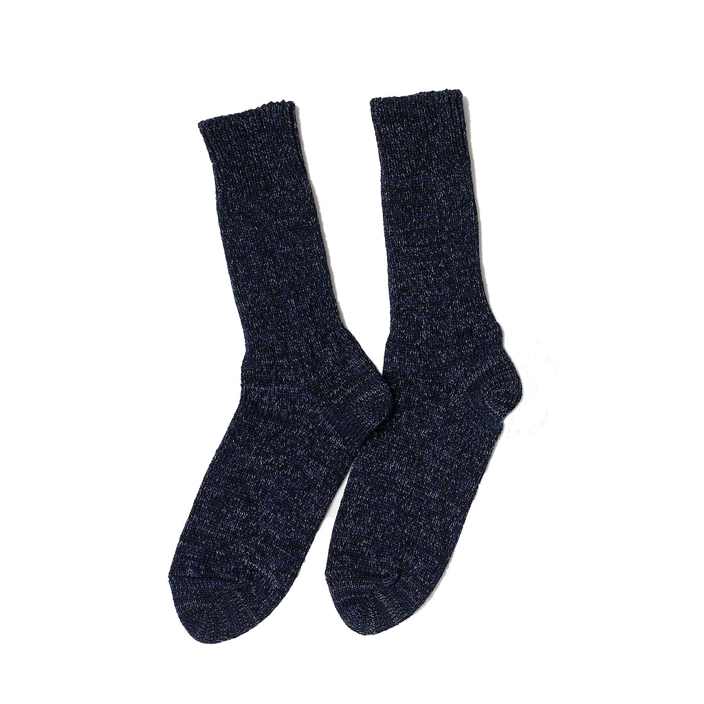 RoToTo - Denim Tone Crew Socks - Dark Denim - November 19 Market