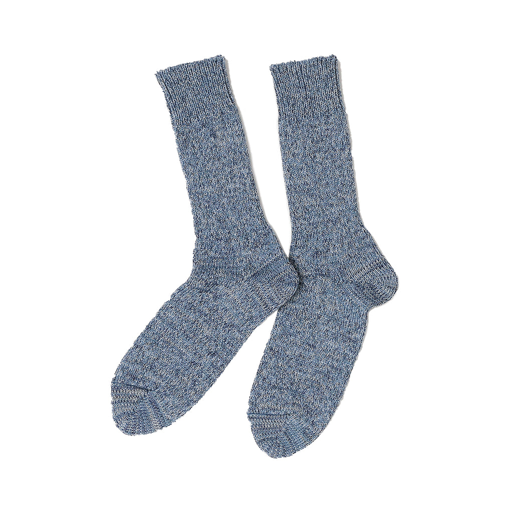 RoToTo - Denim Tone Crew Socks - Ice Denim - November 19 Market