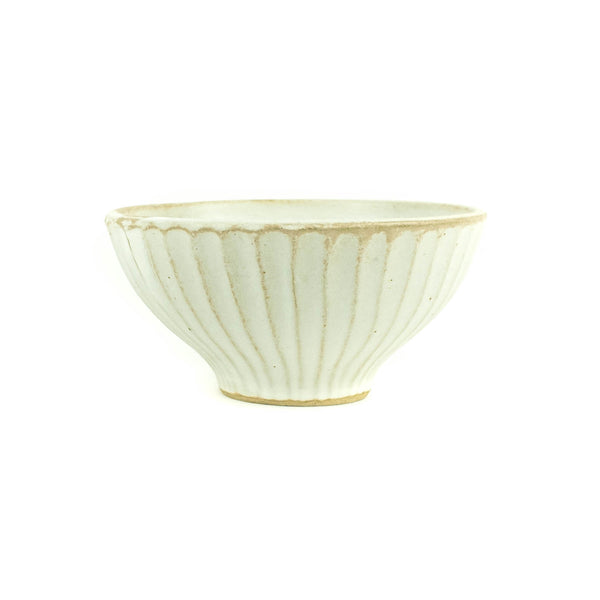 Off White Flower Wheel Rice Bowl - Japan - November 19 Market
