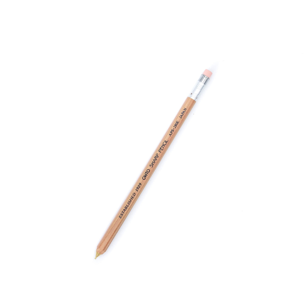 Ohto - Wooden Mechanical Pencil 0.5MM - Natural - November 19 Market