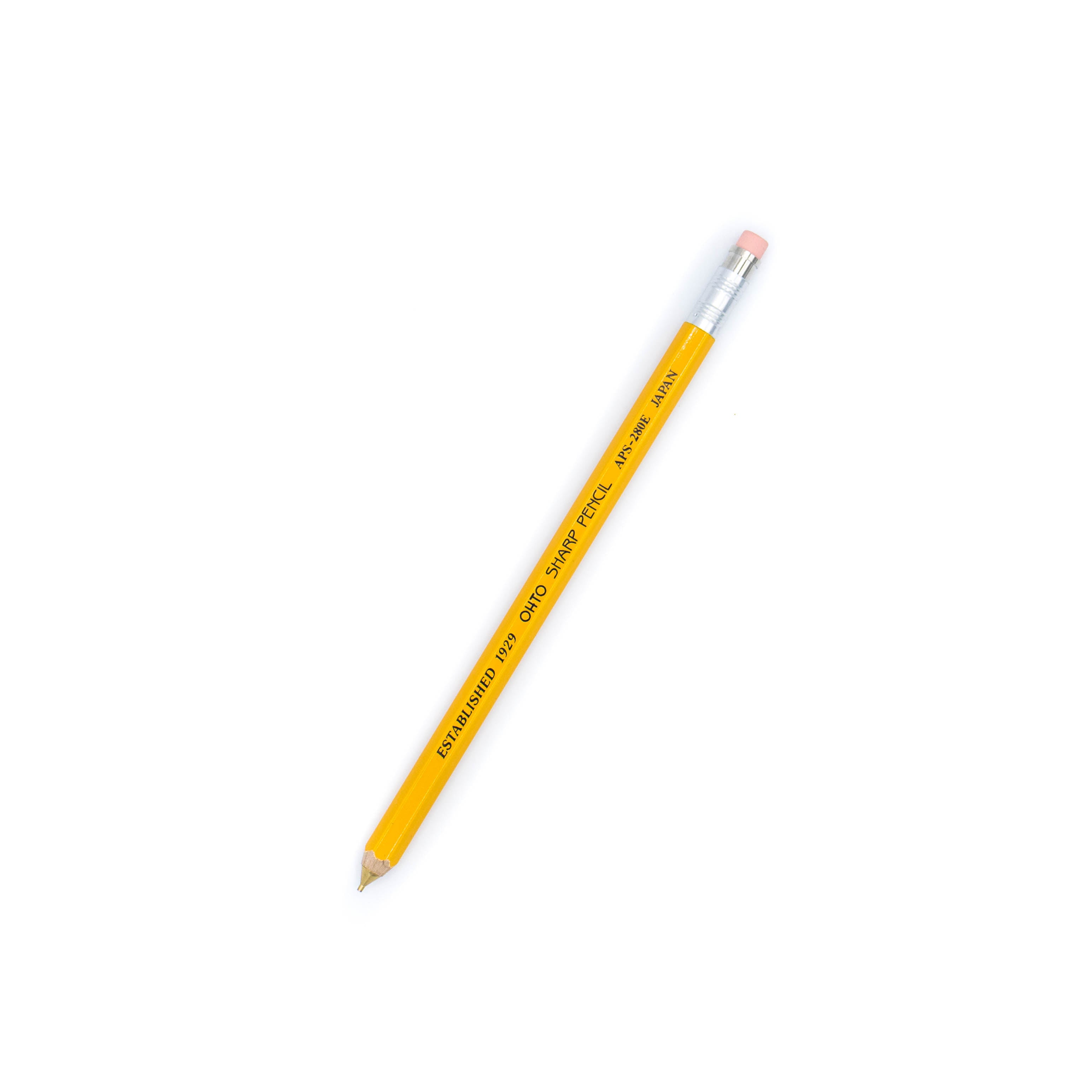 Ohto Wooden Mechanical Pencil 05mm Yellow