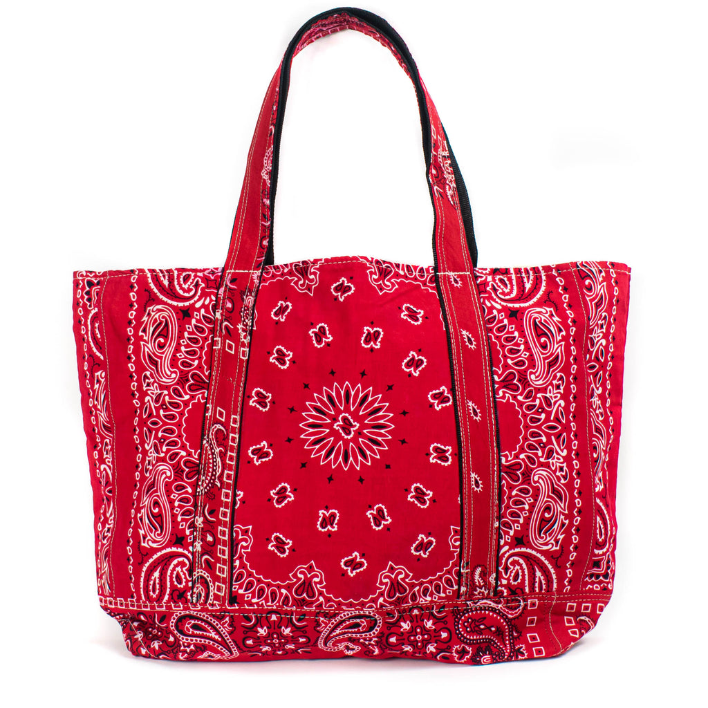 Patchwork Bandana Tote - Red