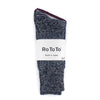RoToTo - Denim Tone Crew Socks - Gray Denim