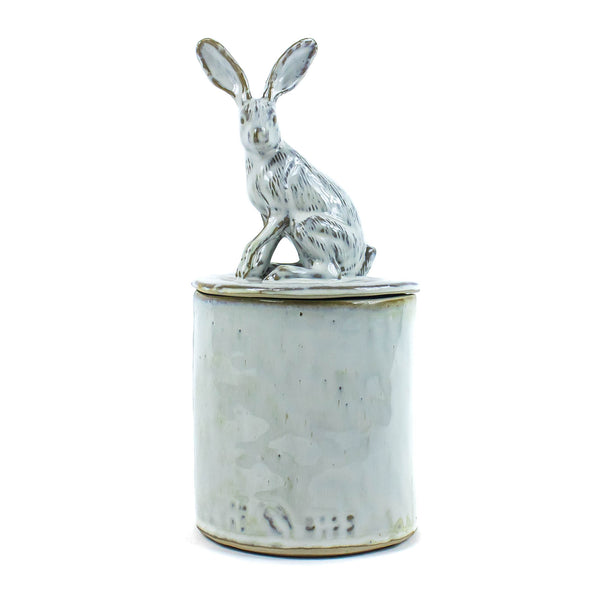 Sitting Rabbit Vessel with Lid