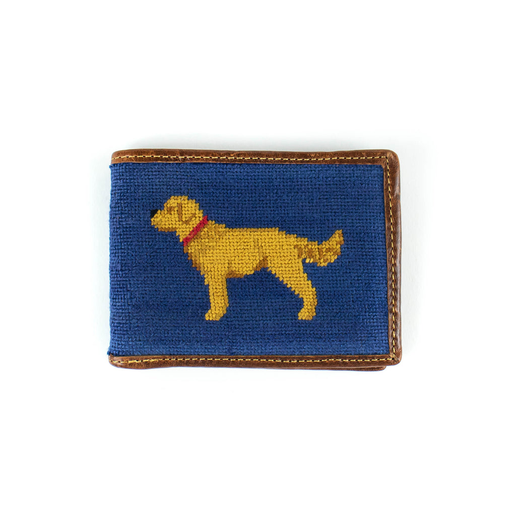 Needlepoint - Yellow Lab -Wallet - November 19 Market