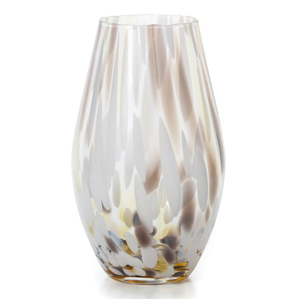 Smoke Pattern Glass Vase