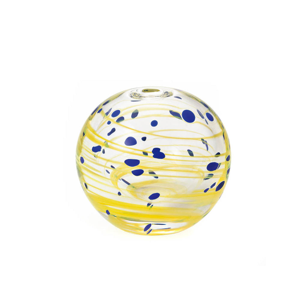 Speckled and Swirl Seed Vase - Yellow