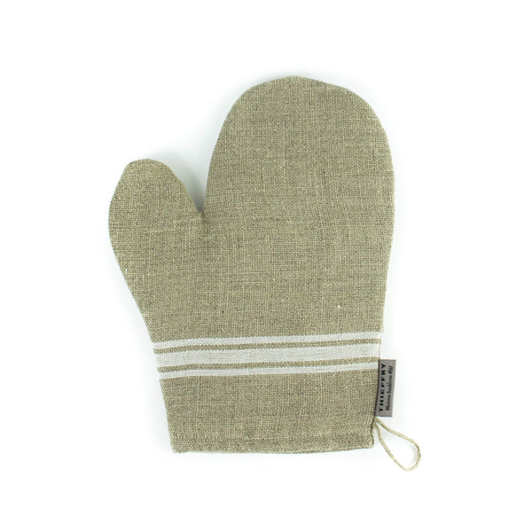 Thieffry Frères - Oven Mitt- Natural with White Monogram Stripe - November 19 Market