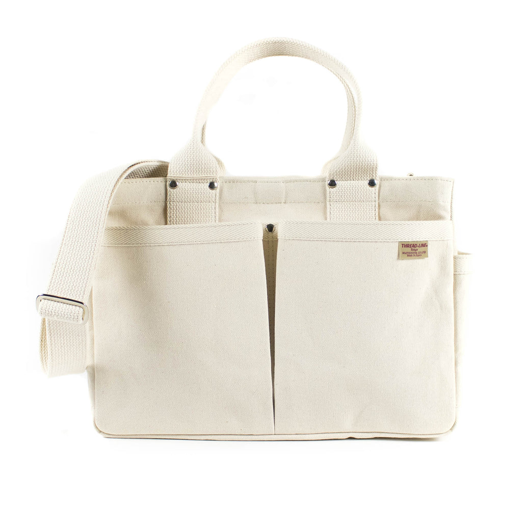 Threadline Tool Tote With Shoulder Strap - Off White - November 19 Market