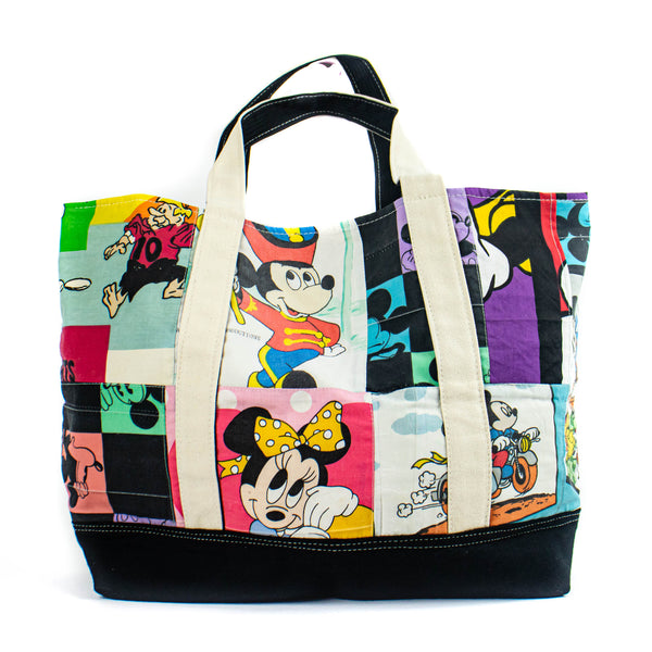 Vintage Patchwork Mickey Tote - Mixed