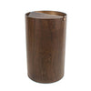 Walnut Wood Waste Basket with Lid - Medium