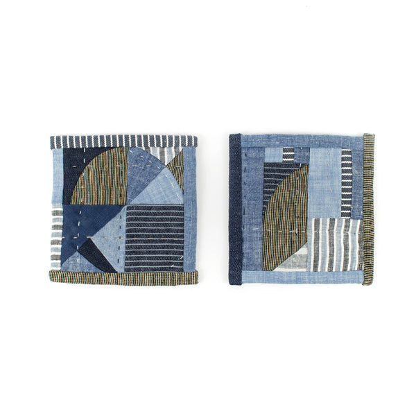 Denim Patchwork Coasters - Set of 2 - November 19 Market