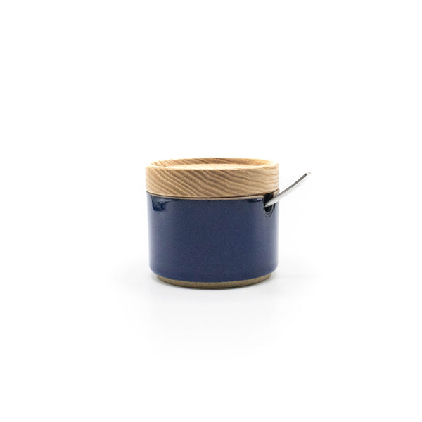 Hasami Sugar Pot Gloss Blue - November 19 Market