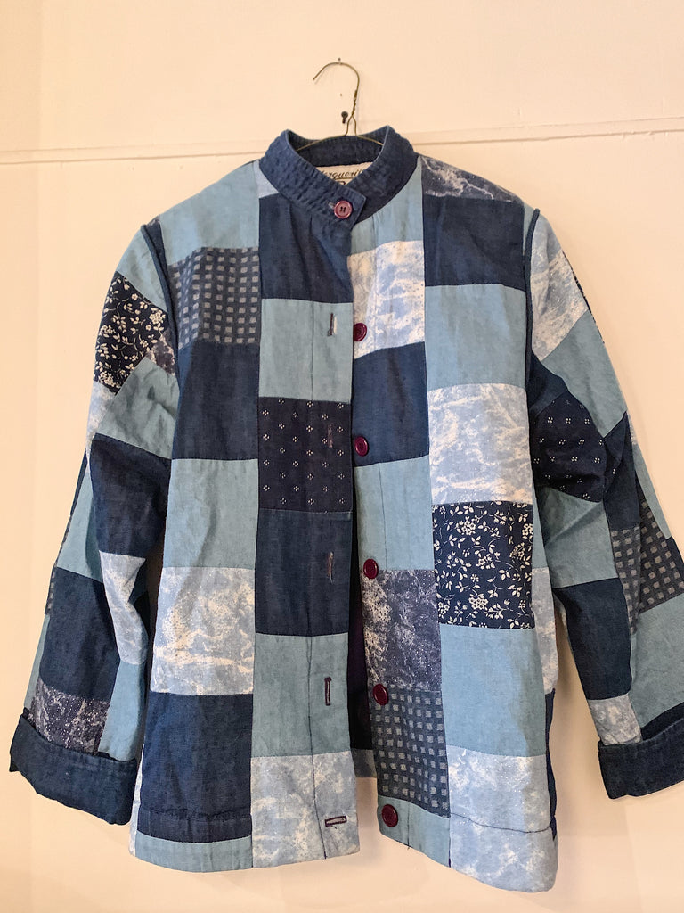 Vintage Patchwork Jacket - Mix Denim/Print