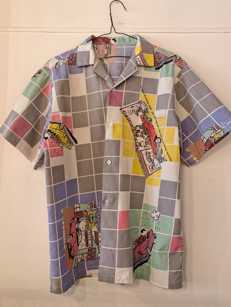 Vintage Snoopy Convertible Camp Shirt