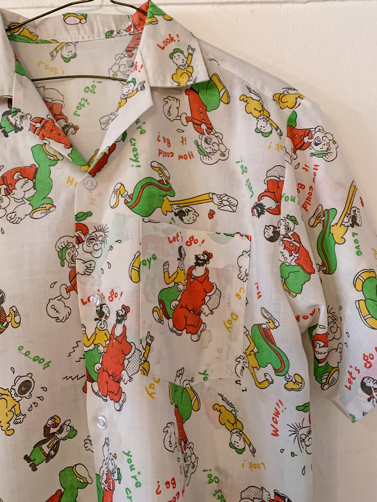 Popeye and Friends Camp Shirt