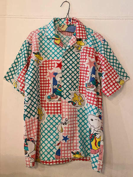 "Vintage Snoopy ""Plaid/Star"" Camp Shirt"