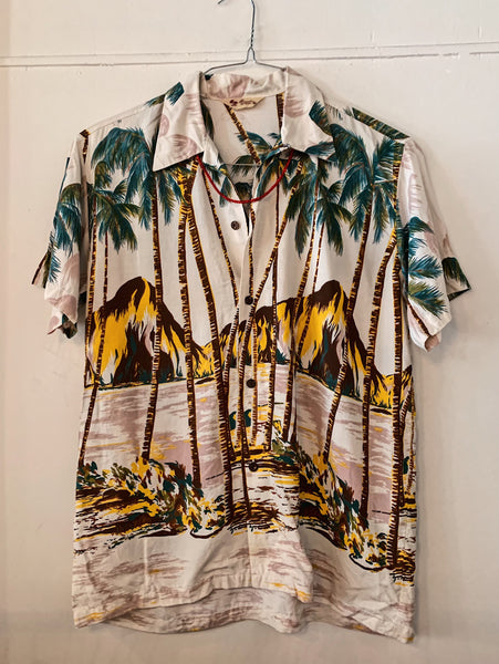 Vintage Palm Tree Hawaiian Shirt