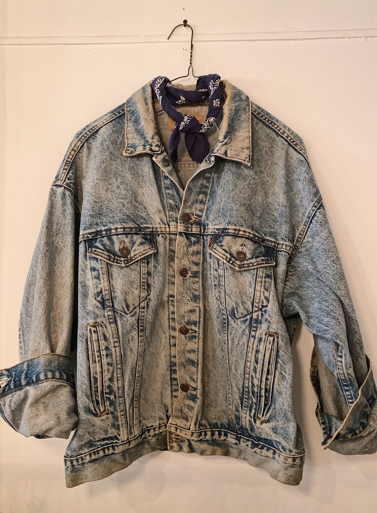 Vintage Light Acid Wash Levis Denim Jacket