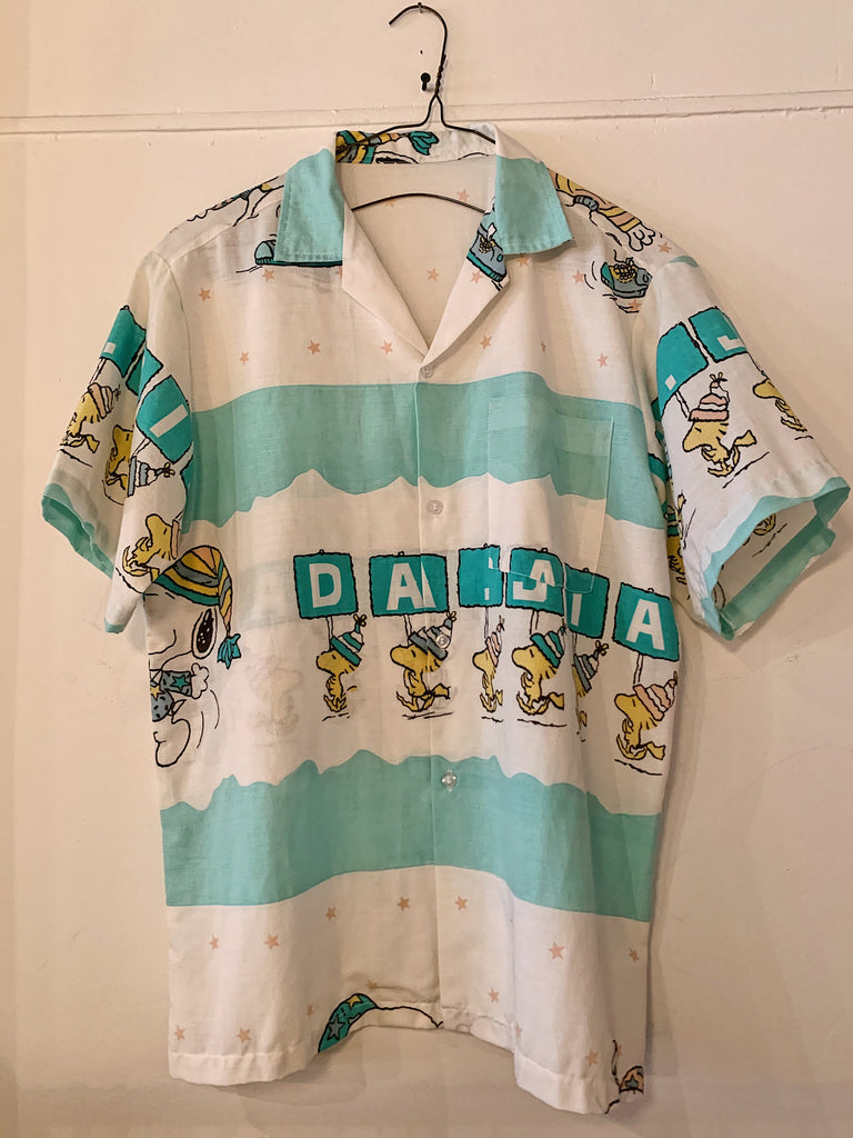 "Vintage Snoopy ""March"" Camp Shirt"