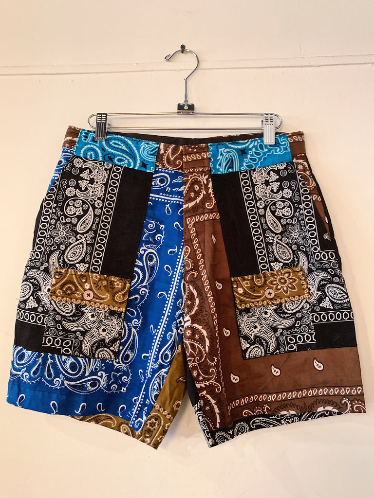 Patchwork Bandana Short - 003