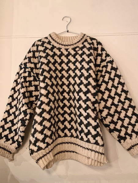 Vintage Chunky Herringbone knit sweater