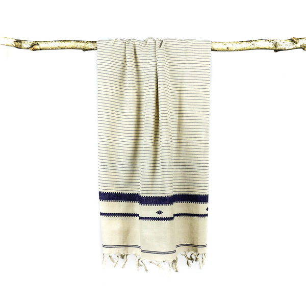 Khadi Towel Ivy with Blue Stripes - November 19 Market