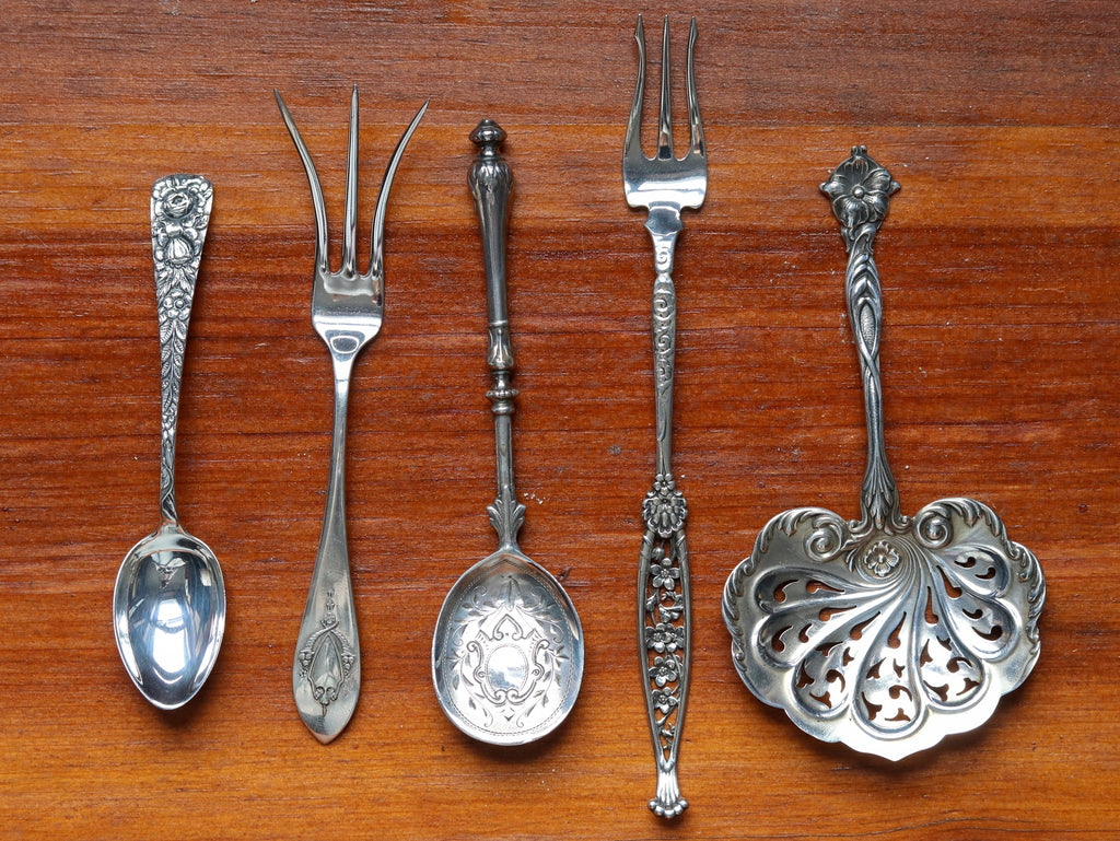 antique silver serving pieces