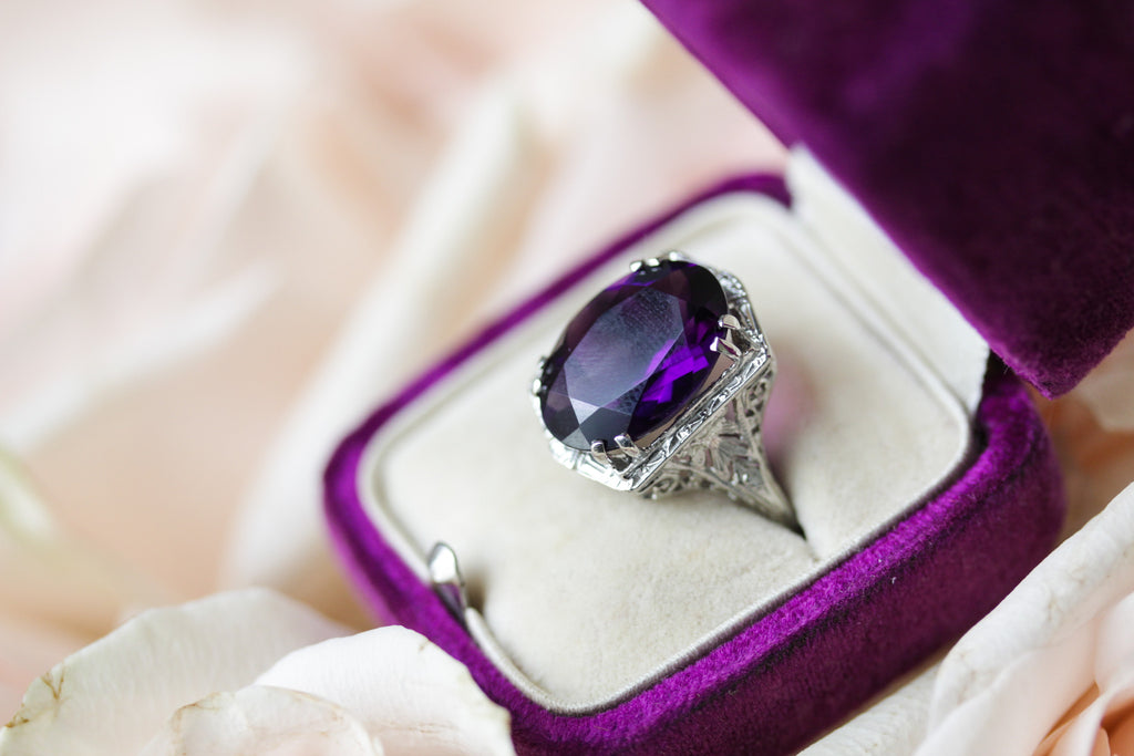 Amethyst Zelda Ring from the Elizabeth Henry Collection