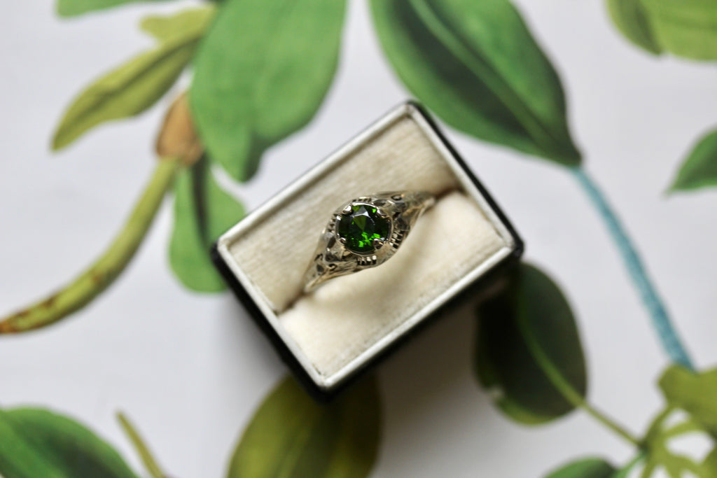 Demantoid garnet jewelry
