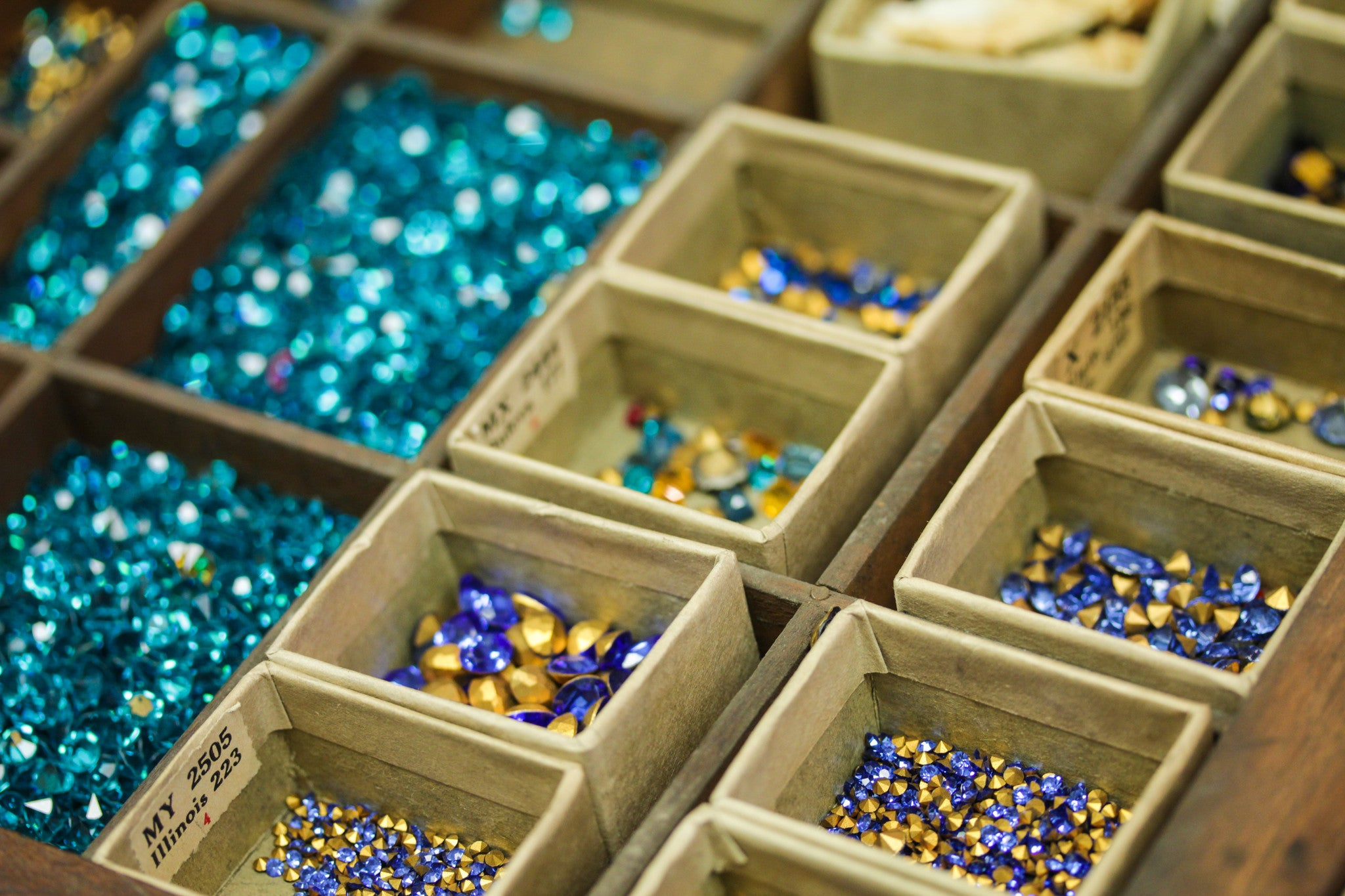 Blue Rhinestones for Jewelry Repair