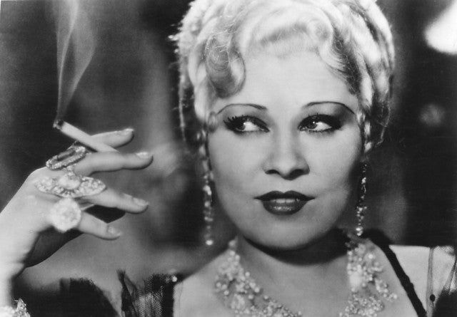 Mae West in She Done Him Wrong 1933, in Art Deco style rings