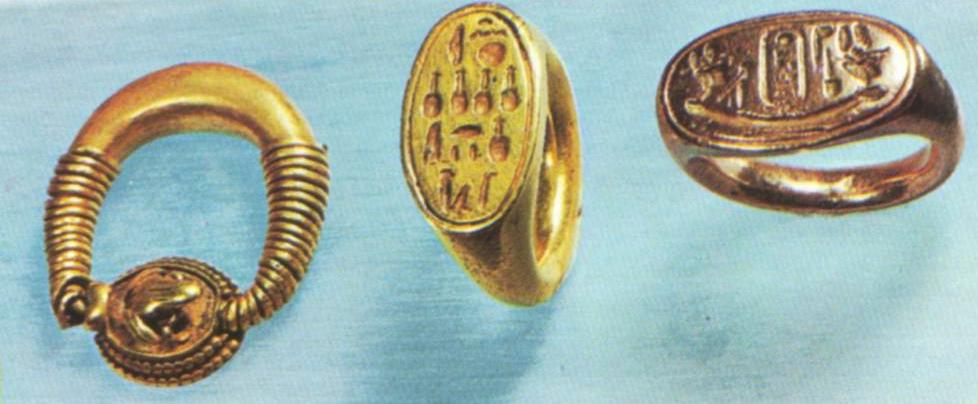 Ancient Egyptian signet rings