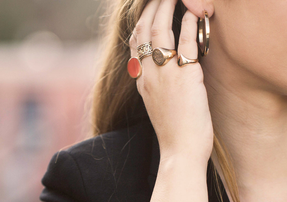 styling antique signet rings