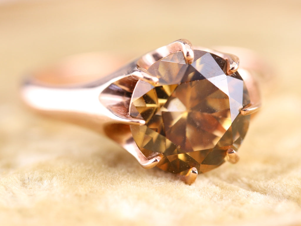golden zircon ring the woodman setting by elizabeth henry