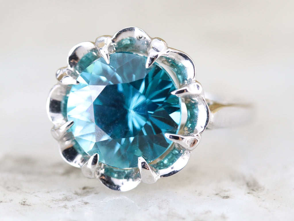 blue zircon ring the grace setting by elizabeth henry