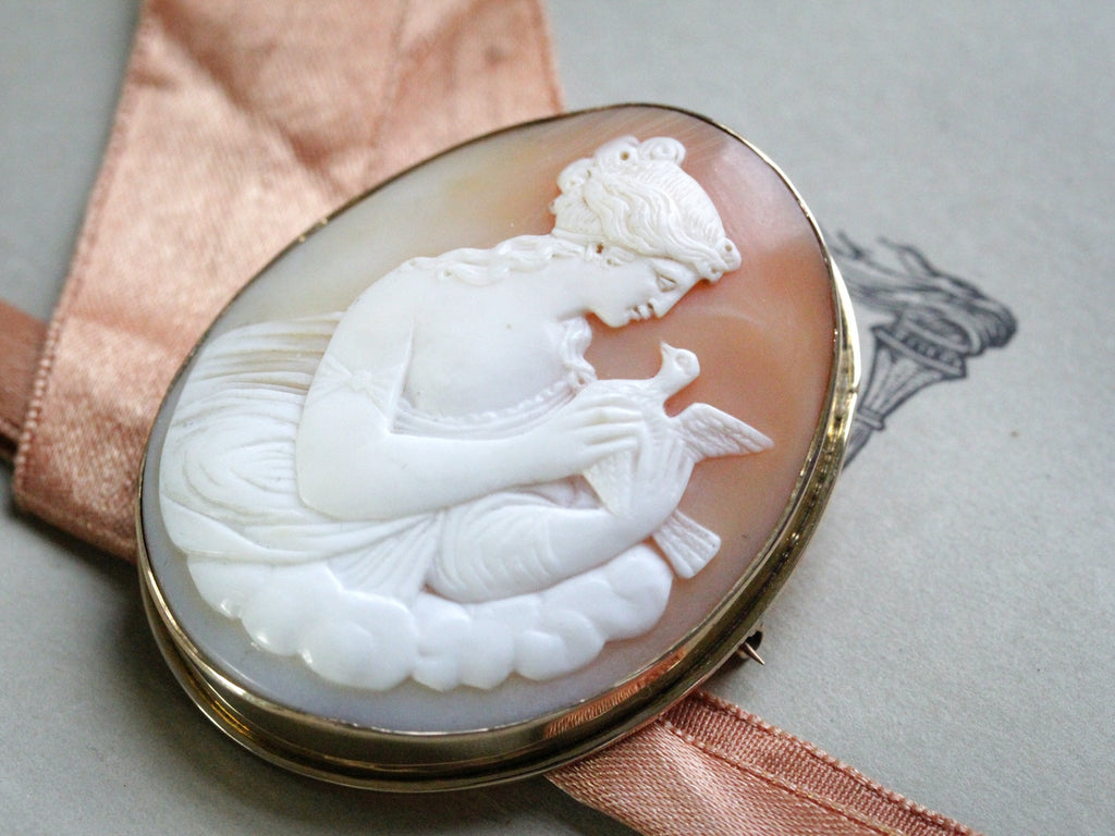 antique cameo roman nose