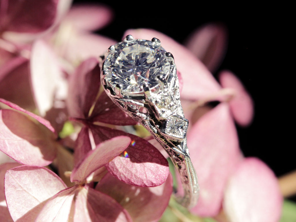 Bellamy custom diamond engagement ring