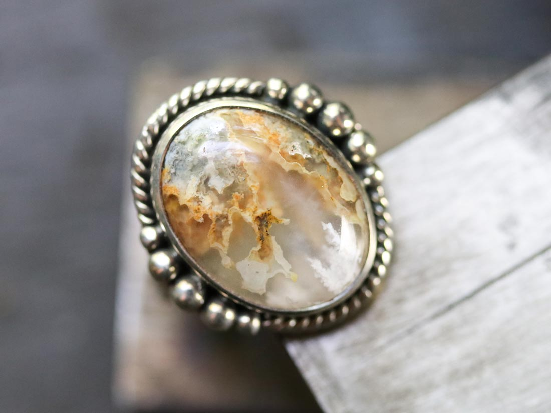 graveyard point plume agate ring