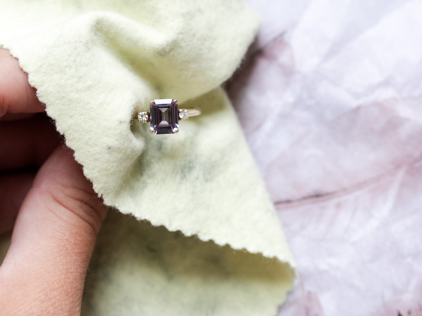 How to clean a vintage engagement ring