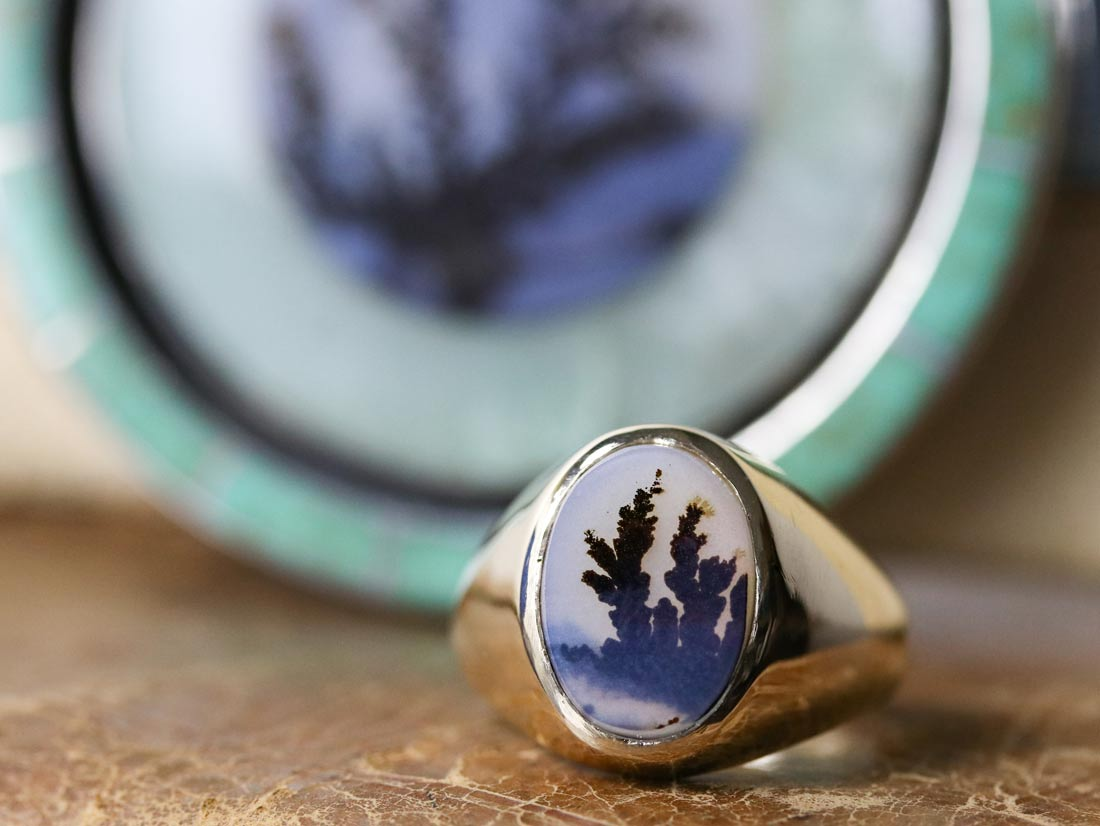 montana moss agate ring