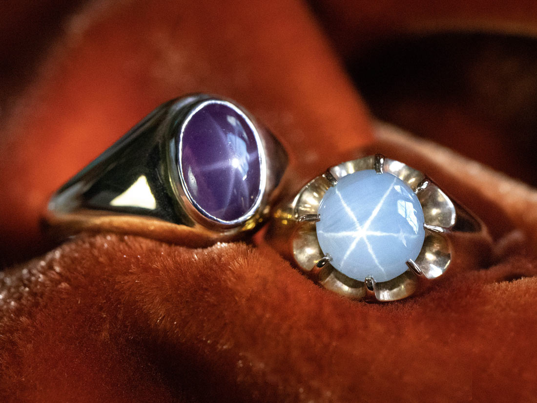 Star gemstone rings