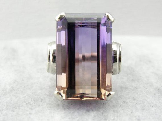 Ametrine  Set in a White Gold Cocktail Ring