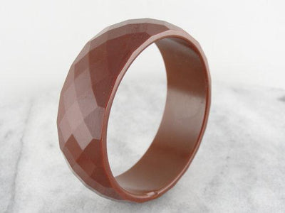 Retro Era Sienna Brown Bakelite Bangle