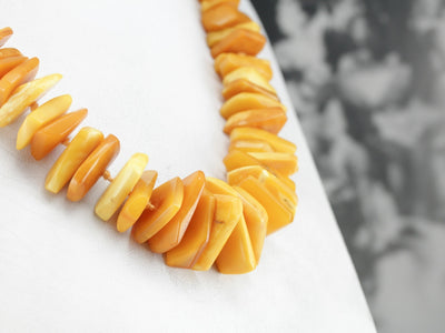 Graduated Chunky Amber Beaded Necklace