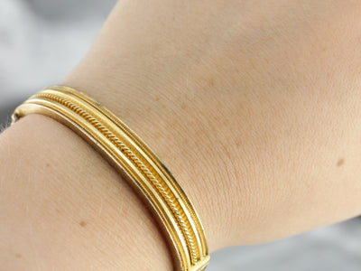 Antique Gold Bangle Bracelet