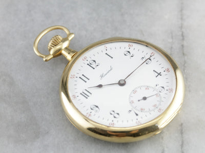 Antique E. Howard Gold Pocket Watch