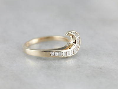 Diamond Curl Gold Statement Band